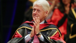 Former US President Bill Clinton's speech at DCU conferral