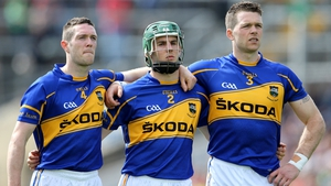 Michael Cahill (L), Cathal Barrett  (C) and Padraic Maher (R)