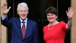 Bill Clinton and DUP leader Arlene Foster