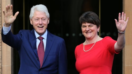 Bill Clinton and DUP leader Arlene Foster
