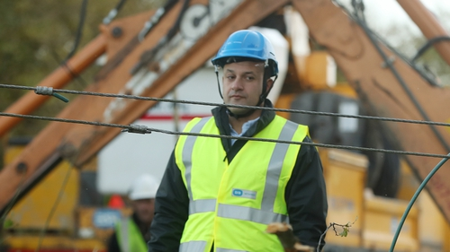Leo Varadkar was visiting storm-hit areas in Co Kildare