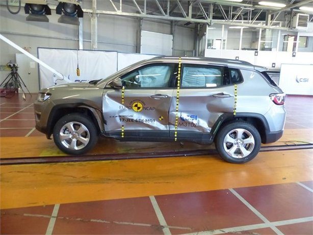 The Jeep Compass test revealed chest injury risks