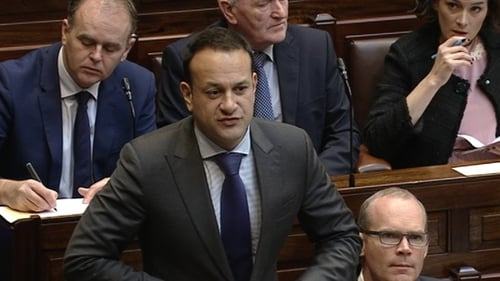 Mr Varadkar was answering a question from Richard Boyd Barrett on Mr Trump's comments