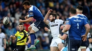 Glasgow Warriors' Tommy Seymour (C) in action against Leinster last season