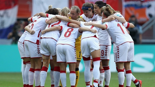 The Denmark team before the UEFA Women's Euro 2017 final against the Netherlands in August