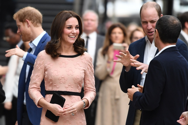 Duchess of Cambridge, and her husband Britain's Prince William, Duke of Cambridge attend a charities forum event at Paddington train station in London on October 16, 2017