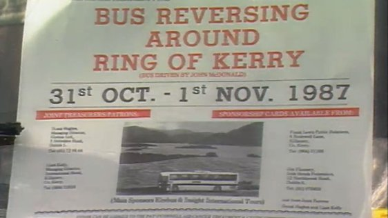 Bus Reverses Around Ring of Kerry (1987)