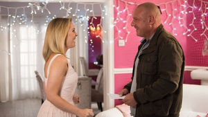 Cindy and Dirk are loved-up on Hollyoaks