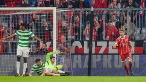 Thomas Muller celebrates scoring Bayern's first