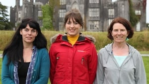 The final three painters - (L-R) Joanne McAndrew, Hazel Higgins and Teresa Butler