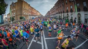 Runners during the Dublin City Marathon