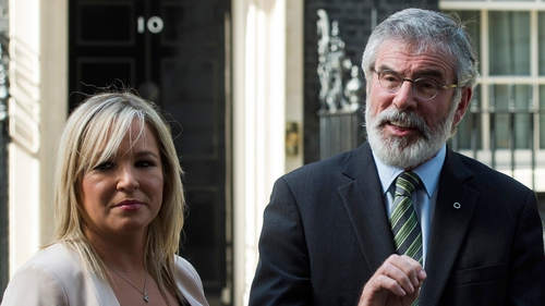 Gerry Adams rejected the suggestions concerning Michelle O'Neill and the ard comhairle