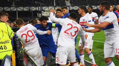 Everton and Williams could face sanctions after melee during Lyon game