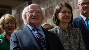 President Michael D. Higgins with the Premier of New South Wales Gladys Berejiklian during his State Visit to Australia