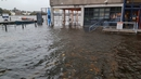 Crews in Limerick are dealing with flooding along Arthur's Quay (Pic: @LimerickCouncil)