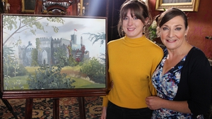 Painting The Nation winner Hazel Higgins, with presenter Pauline McLynn