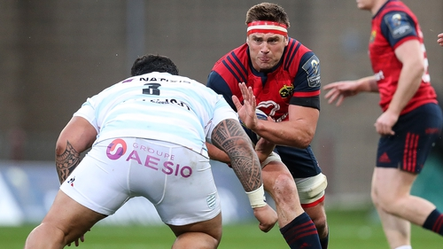 CJ Stander in action for Munster against Racing 92