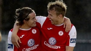 Rhys McCabe (L) with Vinny Faherty