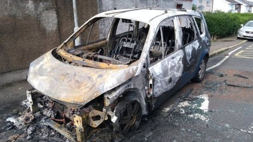 A car parked on Carlingford Street was destroyed in the blaze (Pic: BBC)