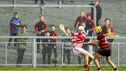 Ballygunner's Conor Power scores a goal past De La Salle's Shaun O'Brien in the Waterford hurling final