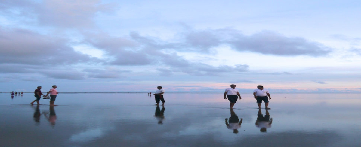 People Walking on Water by Alan McMonagle