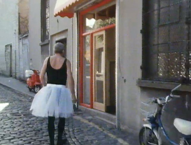 Shay Healy in a tutu at Digges Lane (1987)