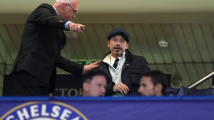 Gianluca Vialli attending Chelsea's Champions League encounter against Roma on Wednesday