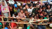 Over 600,000 Rohnugya Muslims estimated to have fled from Myanmar to Bangladesh