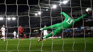 Jesse Lingard scores his second goal past Kristoffer Nordfeldt