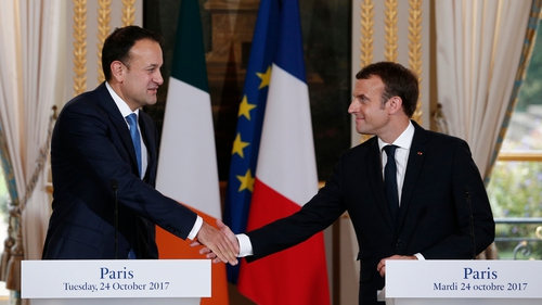 Two leaders held their first formal meeting at the Elysée Palace