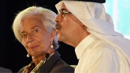 Christine Lagarde was speaking at conference in Riyadh, Saudi Arabia