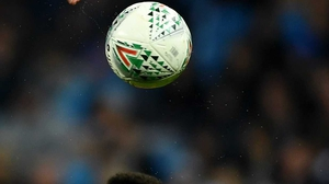 The ball in question in flight