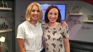 Taragh Loughrey-Grant with HSE Dietician Helen Ryan