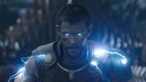 The eyes have it - Chris Hemsworth in Thor: Ragnarok