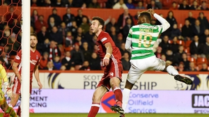 Celtic's Moussa Dembele scores his side's third goal of the game