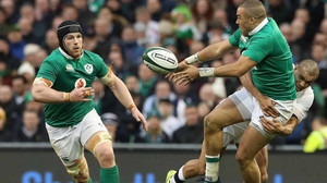 Sean O'Brien (l) says Simon Zebo is a vital part of the Ireland set-up