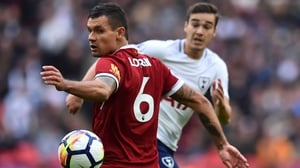Dejan Lovren endured a miserable afternoon against Tottenham