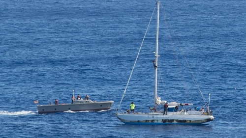 Jennifer Appel, Tasha Fuiaba and the two dogs had set sail from Hawaii bound for Tahiti