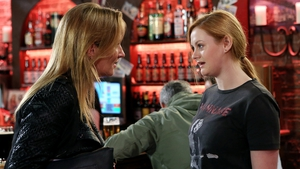 Carol is taken aback when Karen reveals that she saw her kiss Dan on Fair City