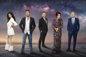 Simon Cowell and The X Factor crew