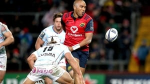 Simon Zebo shows off some skills in Munster's win over Racing