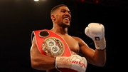 Joshua currently who holds the IBF, IBO and WBA heavyweight belts