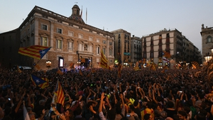 Pro-independence supporters gather in Barcelona
