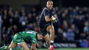 Zebo was a try scorer in Munster's defeat to Connacht in the Pro14