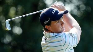 Paul Dunne in action during the third round of the WGC - HSBC Champions at Sheshan International Golf Club