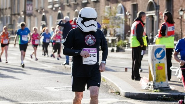 Participant in the 2017 SSE Airtricity Dublin City Marathon.