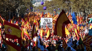 Police said around 300,000 people attended the rally, while organisers and the Spanish central government said around one million people marched