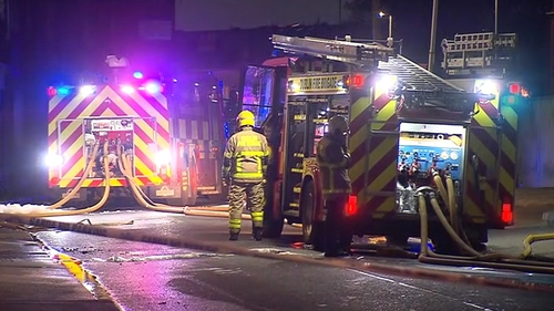 Up to five units of the Dublin Fire Brigade attended the scene