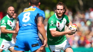 Anthony Mullally in action for Ireland vItaly in the World Cup opener
