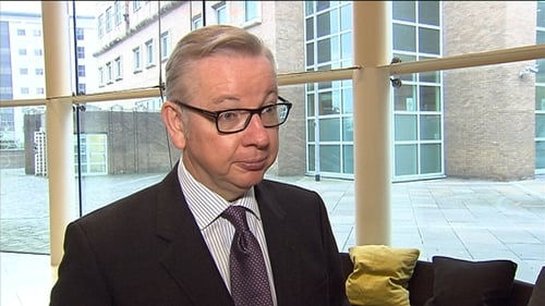 Michael Gove says he plans to travel to Dublin next month for talks with members of the Government